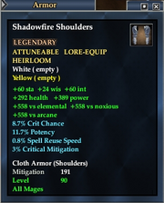 Shadowfire Shoulders