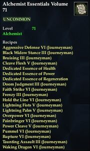 Alchemist Essentials Volume 71