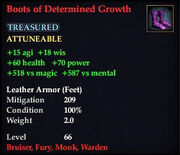 Boots of Determined Growth