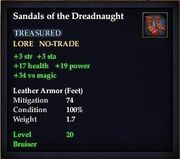 Sandals of the Dreadnaught