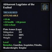 Abhorrent Legplates of the Exalted