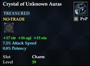Crystal of Unknown Auras