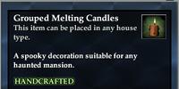 Grouped Melting Candles