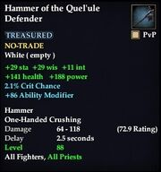 Hammer of the Quel'ule Defender