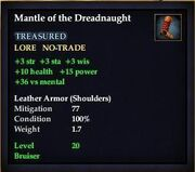 Mantle of the Dreadnaught