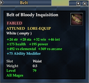 Belt of Bloody Inquisition