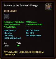 Bracelet of the Diviner's Energy