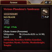 Vicious Plunderer's Vambraces