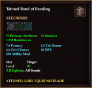 Tainted Band of Bending