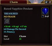 Runed Sapphire Pendant