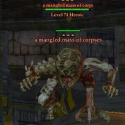 A mangled mass of corpses