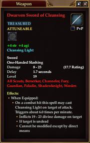 Dwarven Sword of Cleansing