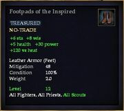 Footpads of the Inspired