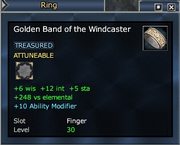 Golden Band of the Windcaster