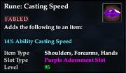 Rune- Casting Speed