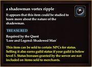 A shadowman vortex ripple