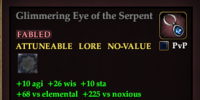 Glimmering Eye of the Serpent