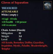 Gloves of Separation