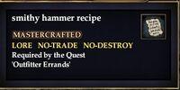 Smithy hammer recipe