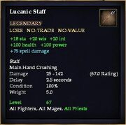 Lucanic Staff