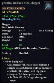 Imbued steel dagger