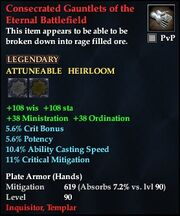 Consecrated Gauntlets of the Eternal Battlefield