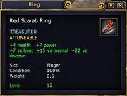 Red Scarab Ring