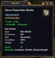 Silver plated kite shield