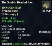 Tin Double Headed Axe