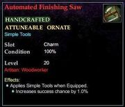 Automated Finishing Saw