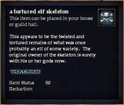 A tortured elf skeleton