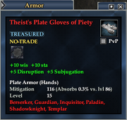Theist's Plate Gloves of Piety