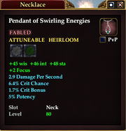 Pendant of Swirling Energies