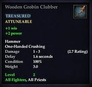 Wooden Grobin Clubber