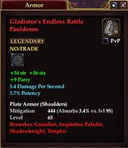 Gladiator's Endless Battle Pauldrons
