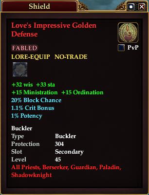 Item - Love's Impressive Golden Defense