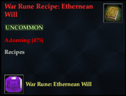 War Rune Recipe- Ethernean Will