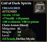 Coif of Dark Spirits