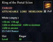 Ring of the Portal Scion