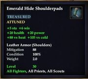 Emerald Hide Shoulderpads