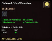 Gathered Orb of Evocation