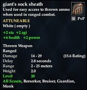 Giant's sock sheath