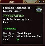 Sparkling Adornment of Defense (Lesser)