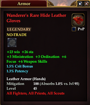 Wanderer's Rare Hide Leather Gloves