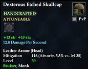 Dexterous Etched Skullcap