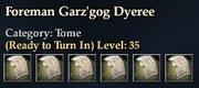 Foreman Garz'gog Dyeree