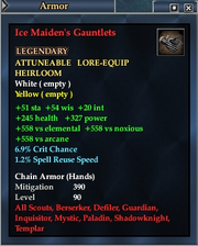 Ice Maiden's Gauntlets