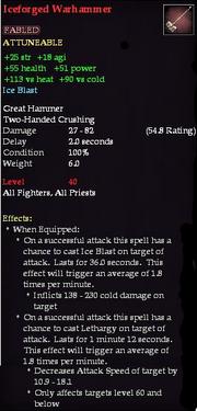 Iceforged Warhammer