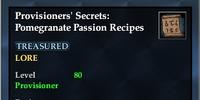 Provisioners' Secrets: Pomegranate Passion Recipes