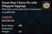 Sweet Marr Cherry Pie with Whipped Toppings